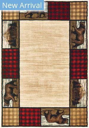 Oriental Weavers Woodlands 9603c Ivory - Multi Area Rug
