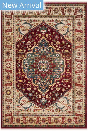 Ralph Lauren Power Loomed Lrl1221b Beige - Red Area Rug