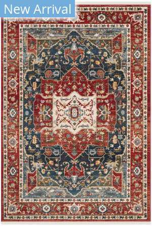 Ralph Lauren Power Loomed Lrl1225a Red - Navy Area Rug