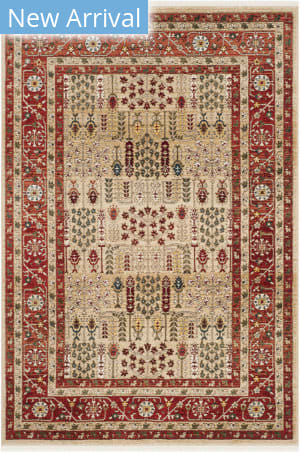 Ralph Lauren Power Loomed Lrl1297c Red - Beige Area Rug