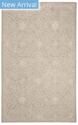 Ralph Lauren Hand Tufted Lrl6603l Silver - Ivory Area Rug