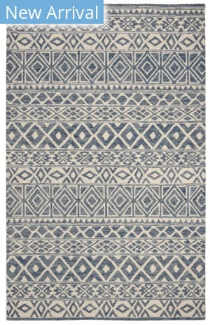 Ralph Lauren Hand Tufted Lrl6650a Ivory - Blue Area Rug