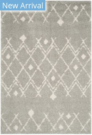Safavieh Berber Shag Ber164b Light Grey - Cream Area Rug