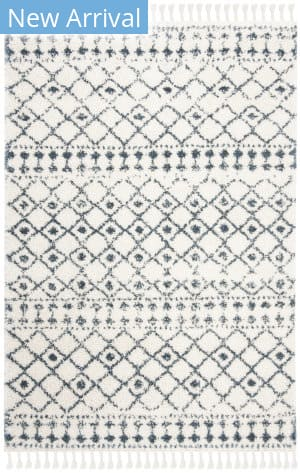 Safavieh Berber Fringe Shag Bfg519a Cream - Blue Area Rug