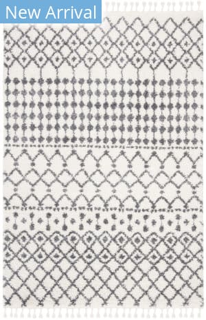 Safavieh Berber Fringe Shag Bfg540a Cream - Dark Grey Area Rug