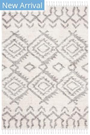 Safavieh Berber Fringe Shag Bfg611a Cream - Grey Area Rug