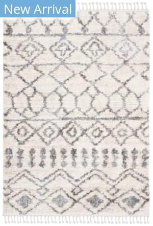 Safavieh Berber Fringe Shag Bfg626a Cream - Grey Area Rug