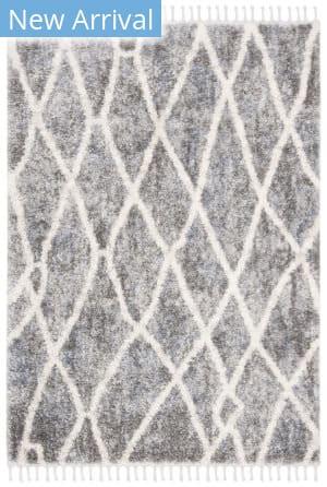 Safavieh Berber Fringe Shag Bfg628m Dark Grey - Cream Area Rug
