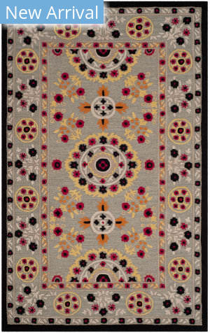 Safavieh Bellagio Blg628a Light Grey - Black Area Rug