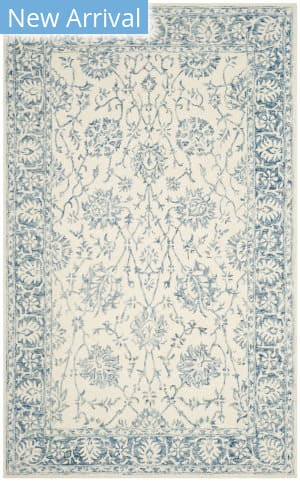 Safavieh Blossom Blm351a Ivory - Blue Area Rug