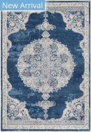 Safavieh Brentwood Bnt867m Navy - Light Grey Area Rug