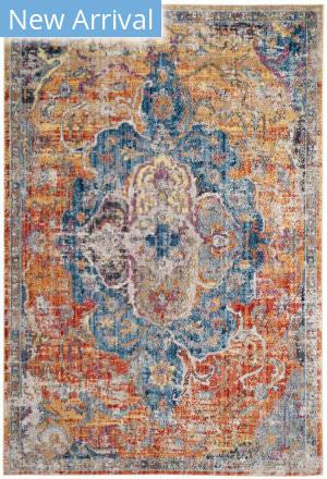 Rugstudio Sample Sale 181925R Blue - Orange Area Rug