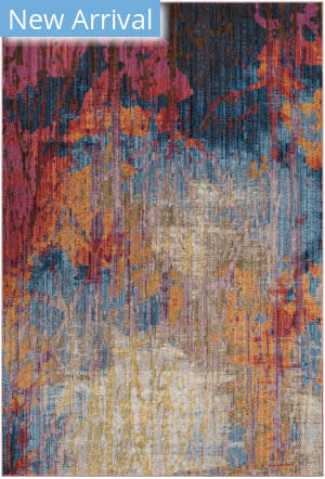 Rugstudio Sample Sale 181928R Blue - Rust Area Rug