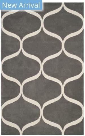 Safavieh Cambridge Cam730d Dark Grey - Ivory Area Rug