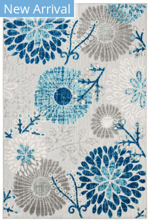 Safavieh Cabana Cbn832f Grey - Navy Area Rug