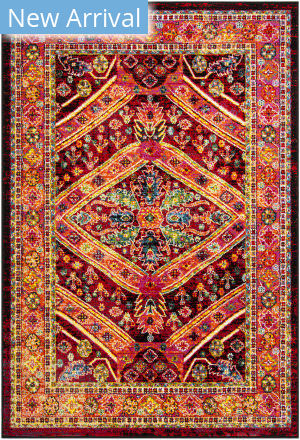 Safavieh Cherokee Chr921z Black - Light Orange Area Rug