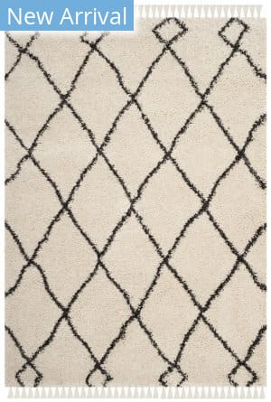 Safavieh Moroccan Fringe Shag Mfg241b Cream - Charcoal Area Rug