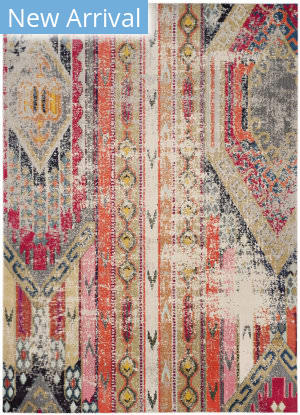 Safavieh Monaco Mnc222g Light Grey - Multi Area Rug