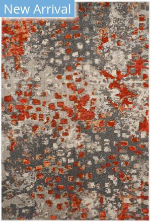 Rugstudio Sample Sale 166405R Grey - Orange Area Rug