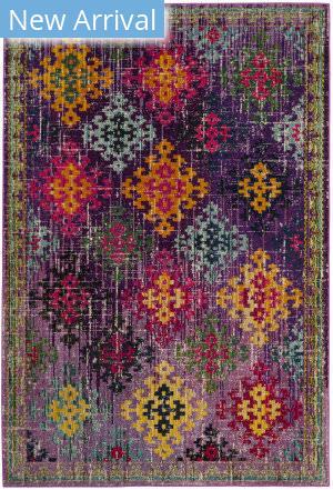 Safavieh Monaco Mnc244p Purple - Multi Area Rug