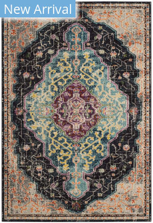 Safavieh Monaco Mnc249z Black - Blue Area Rug