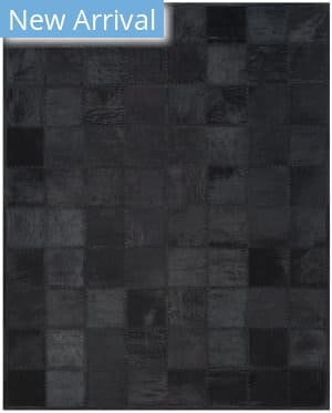 Ralph Lauren Natural Rlr5918d Jet Black Area Rug