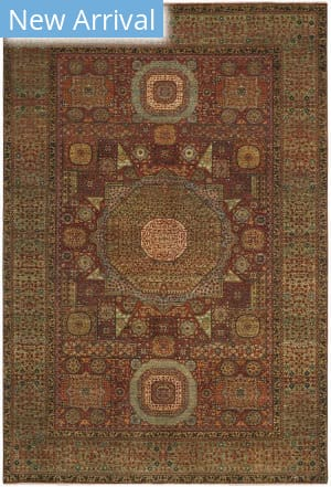 Ralph Lauren Hand Knotted Rlr9552a Madder Red Area Rug