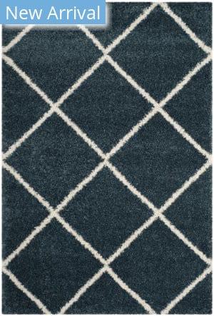 Safavieh Hudson Shag Sgh281l Slate Blue - Ivory Area Rug