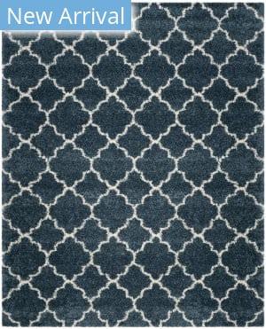 Safavieh Hudson Shag Sgh282l Slate Blue - Ivory Area Rug