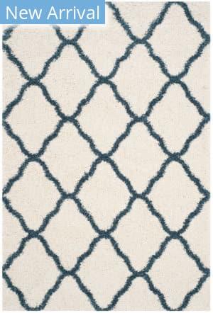 Safavieh Hudson Shag Sgh283t Ivory - Slate Blue Area Rug