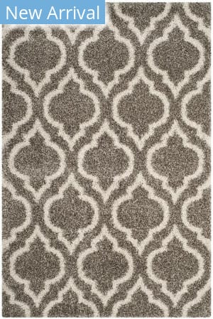 Safavieh Hudson Shag Sgh284b Grey - Ivory Area Rug