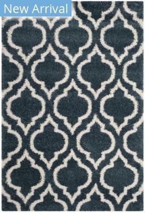Safavieh Hudson Shag Sgh284l Slate Blue - Ivory Area Rug