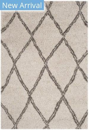 Safavieh Hudson Shag Sgh329a Ivory - Grey Area Rug