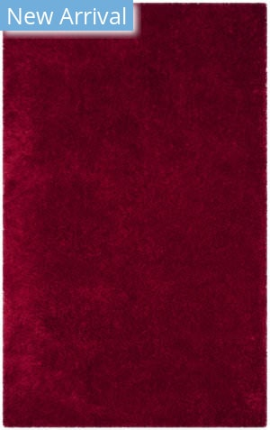 Safavieh Luxe Shag Sgx160e Red Area Rug