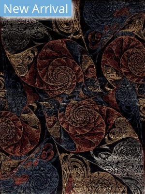 Samad Art Tec Spiral Black Area Rug