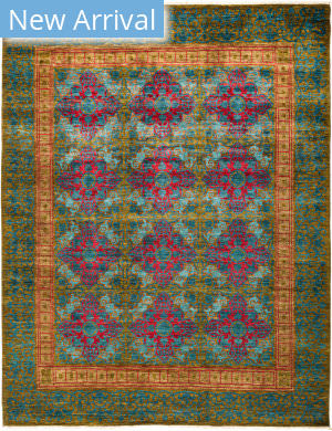 Solo Rugs Suzani M1891-183 Greens Area Rug