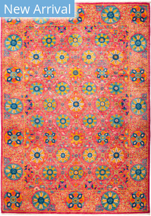 Solo Rugs Suzani M1891-213 Pinks Area Rug
