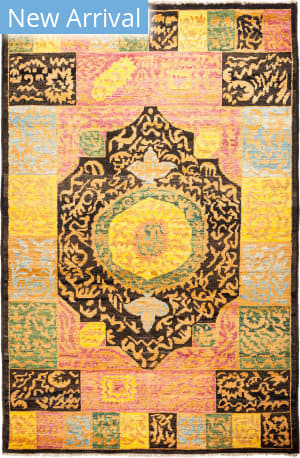 Solo Rugs Kaitag M1891-402 Yellows Area Rug