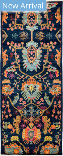 Solo Rugs Eclectic M1896-383 Blues Area Rug