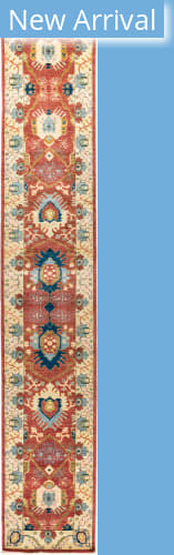 Solo Rugs Eclectic M1896-403 Reds Area Rug