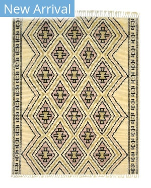 Luxor Lane Knotted Sue-S3057 Cream - Pink Area Rug