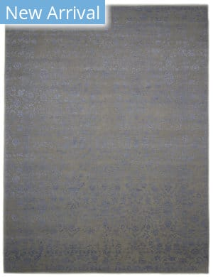 Luxor Lane Knotted Emi-S3520 Dark Beige - Blue Area Rug