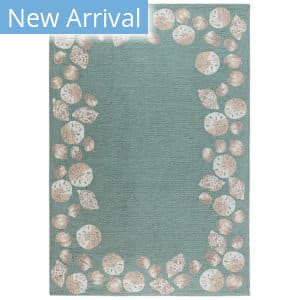 Trans-Ocean Capri Seashell Border 1723/04 Blue Area Rug