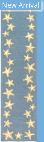 Trans-Ocean Capri Starfish Border 1710/03 Blue Area Rug