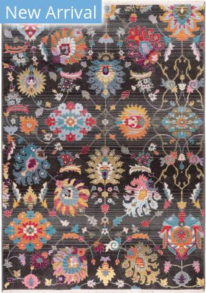 Trans-Ocean Calais Vintage Floral 6079/48 Black Area Rug