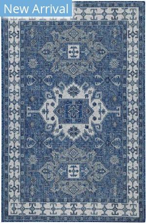 Trans-Ocean Carmel Kilim 8409/33 Blue Area Rug