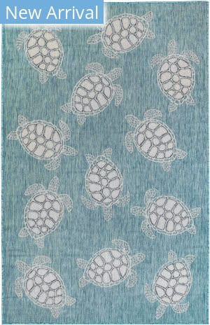 Trans-Ocean Carmel Seaturtles 8413/04 Blue Area Rug