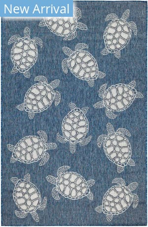 Trans-Ocean Carmel Seaturtles 8413/33 Navy Area Rug