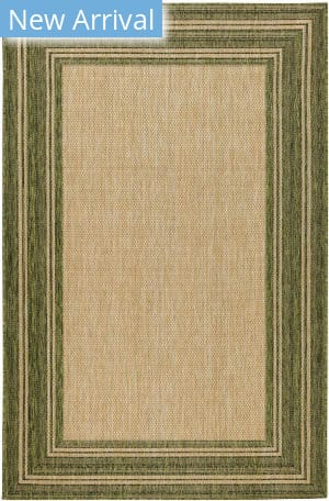 Trans-Ocean Carmel Multi Border 8425/06 Green Area Rug