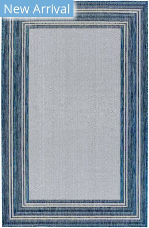 Trans-Ocean Carmel Multi Border 8425/33 Navy Area Rug